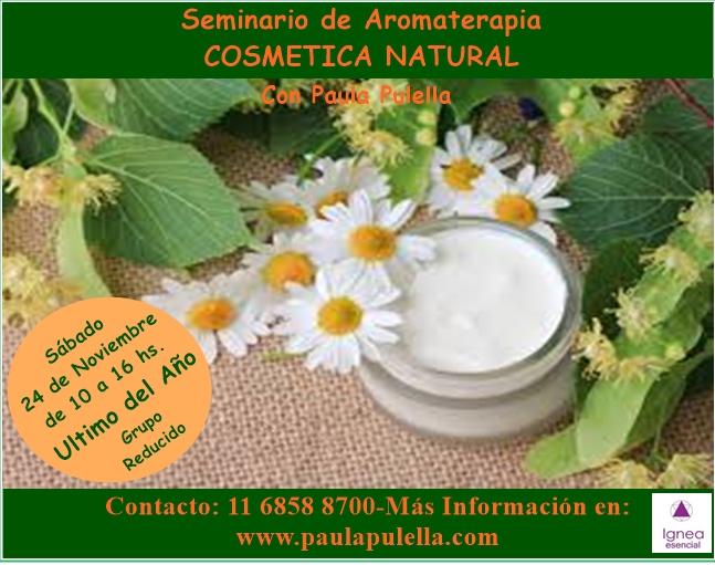 Seminario de Aromaterapia y Cosmética Natural