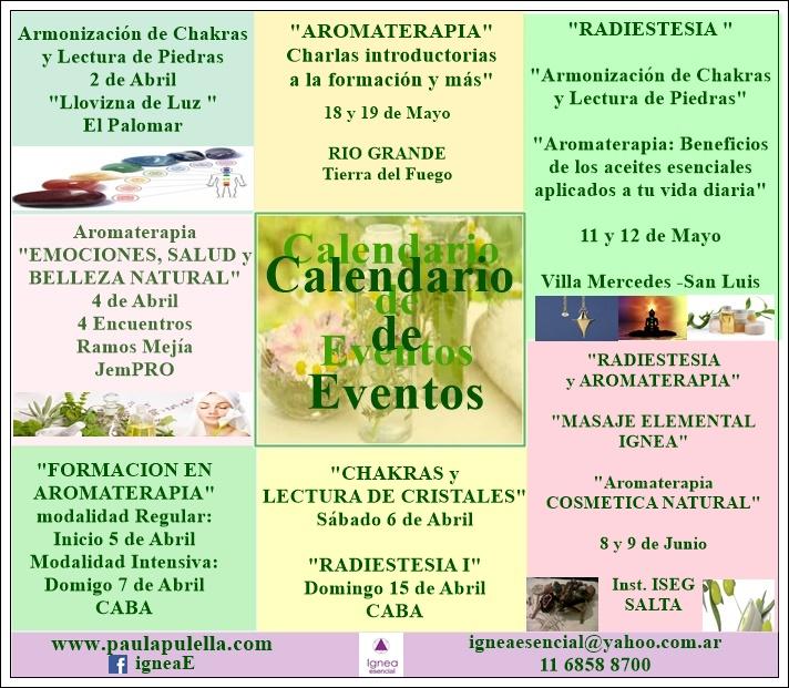 Calendario de Actividades y Eventos Ignea Esencial 2019
