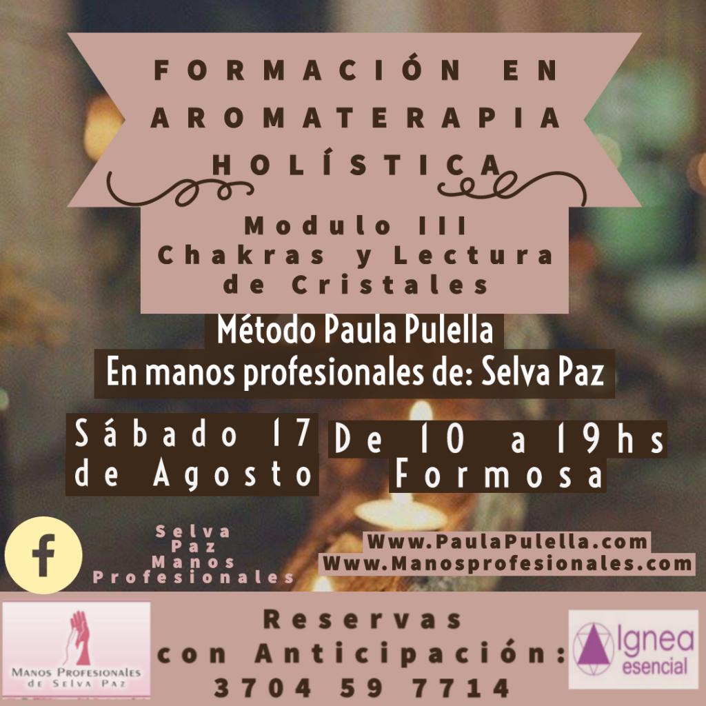 """AROMATERAPIA III """"Chakras y Lectura de Cristales"""""""